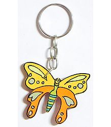 Wooden Butterfly Key Chain