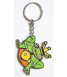 Wooden Frog Key Chain