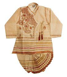 Handloom Cotton Dhoti & Kurta