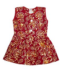 Printed Cotton Sleeveless Frock
