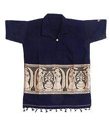 Buy Short Kurta with Baluchari Design