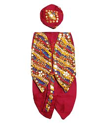 Buy Red Dhoti, Cap & Jacket