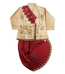Embroidered Kurta and Ready to Wear Dhoti