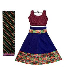 Cotton Ghagra, Choli and Chunni
