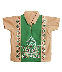 Hand Painted Short Kurta for Young Boy