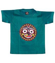 Cyan Green T-Shirt for Baby Boy