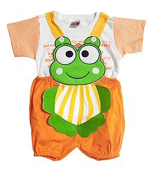 Froggy Dungaree Set for Baby Boy