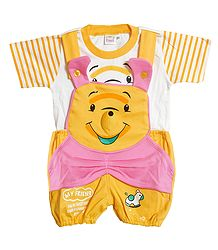 Winnie the Pooh Dungaree Set for Baby Boys