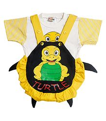 Baby Turtle Dungaree Set for Baby Boy