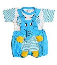 Jumbo the Elephant Dungaree Set for Baby Boys
