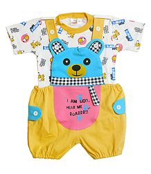 Teddy Dungaree Set for Baby Boys