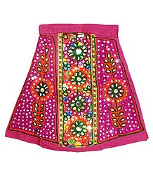 Buy Magenta Cotton Lehenga