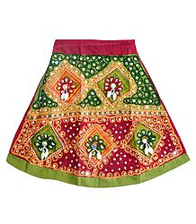 Embroidered Multicolor Ghagra