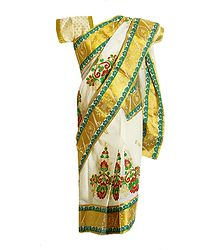 Shop Online Ready to Wear Cotton Sari for Baby Girl