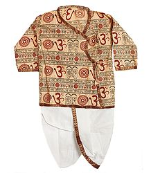 Buy Om Kurta with White Pyjama Dhoti