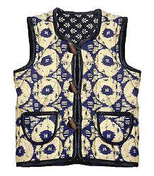 Reversible Sleeveless Quilt Jacket