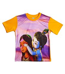 Printed Yashoda Krishna on T-Shirt for Baby Boy