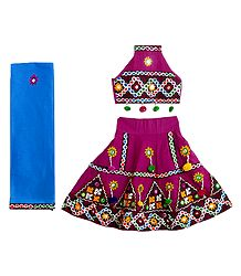 Buy Embroidered Magenta Lehenga  Choli