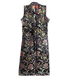 Black Brocade Silk Sikkimese Dress