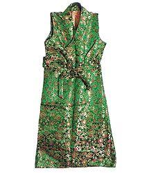 Green Brocade Silk Sikkimese Dress