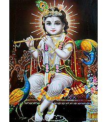 Young Krishna - Glitter Poster
