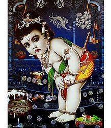 Bal Gopal -  Glitter Poster