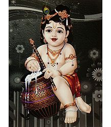 Bal Gopal Eating Butter
