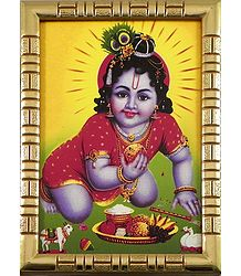 Shop Online Framed Picture of Bal Gopal