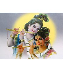 Eternal Lovers - Radha and Krishna