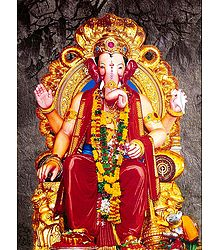 Lord Ganesha as King