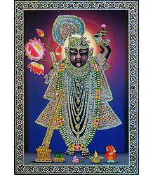 Krishna as Dwarkadheesh - Glitter Poster