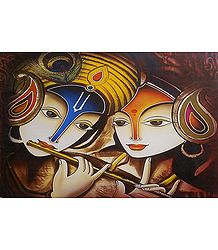 Radha Krishna - The Divine Lovers - Poster
