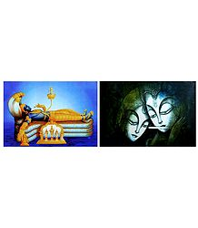 Radha Krishna and Padmanavaswamy - Set of 2 Posters