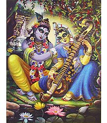 Image of Krishna Admiring Radha