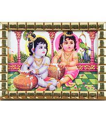 Plastic Framed Picture of Krishna Balaram