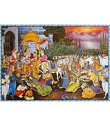 Krishna Leaving Vrindavan