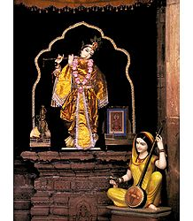 Krishna and Meerabai - Photographic Print