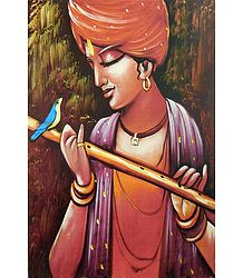 Bird Lover Krishna Picture