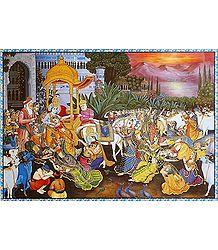 Krishna Leaving Vrindavan