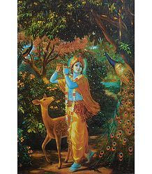 Animal Lover Krishna - Buy Poster