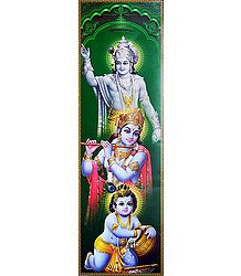 Different Stages of Krishna - Poster