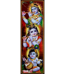 Different Stages of Krishna