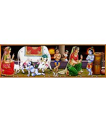 Yashoda and Krishna - Poster