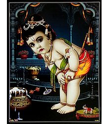 Makhan Chor Krishna - Poster