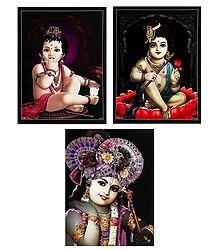 Set of 3 Krishna Posters