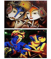 Radha Krishna - Set of 2 Posters