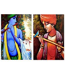 Lord Krishna - Set of 2 Posters