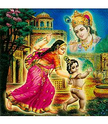 Yashoda and Natkhat Krishna