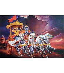 Krishna Arjuna in Kurkshetra Battlefield