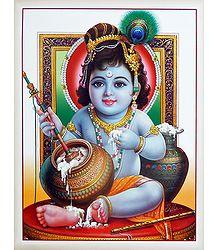 Makhan Chor Krishna Poster